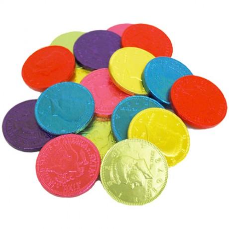 מטבעות שוקולד צבעוניים