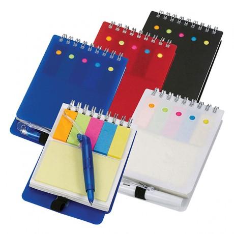 פנקס צבעוני עם עט