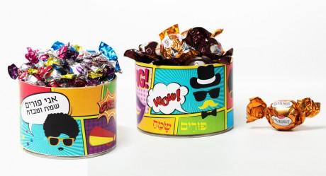 גליל קומיקס במילוי ממתקים